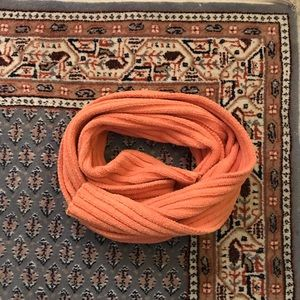 Accessories - Orange Ribbed Fleece Scarf